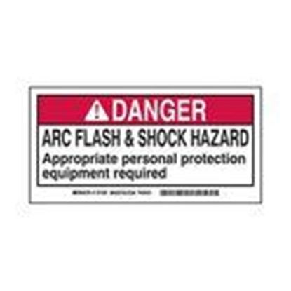 Picture of Brady 101520 Arc Flash/Shock Hazard Label