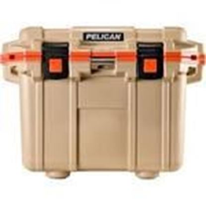Picture of Pelican Products 30Q-2-TANORG Water Cooler, 30 Qt, Tan/Orange