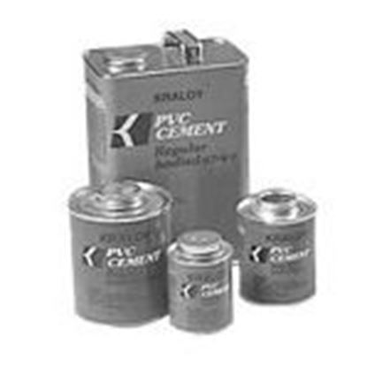 Picture of Kraloy 078887 Clear Regular Bodied Solvent Cement, 1 Gallon