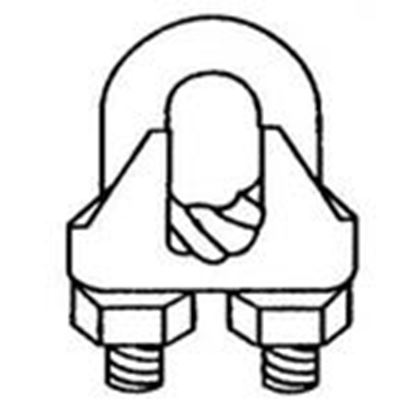 """Picture of Wilcor GWC14 Guy Wire Clamp, 1/4"""""""