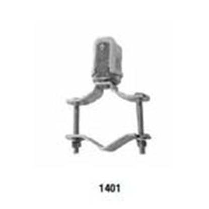 """Picture of Appleton 1401 Wire Holder, Clamp Type, Porcelain, 1-1/4 to 2-1/2"""""""