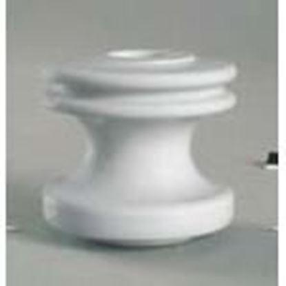 """Picture of PPC Insulators 5101 Insulator, Type: Strain/Spool, 3 x 3-1/8"""", Porcelain, White"""
