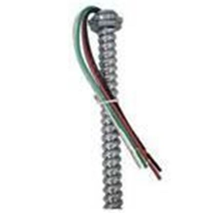 """Picture of EPCO EPW1864S Metallic Whip, 18/4 AWG Solid, 3/8"""" Flex, 6' Long"""