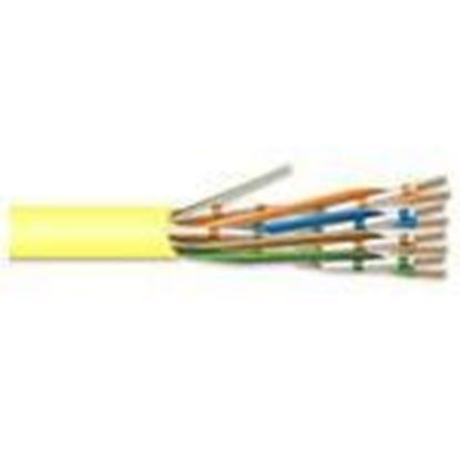 Picture of Coredata Labs U5E4RYLBXU 4 Pair 24 AWG CMR CAT5 - Yellow