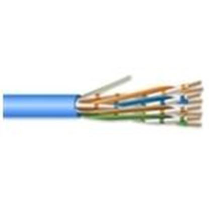 Picture of Hitachi Cable America 30222-8-BL3 4 Pair 22 AWG CMR CAT6A - Blue