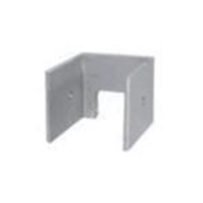 "Picture of ProSolar AEZECAP1 Support Rail End Cap for 1.5"", Clear Aluminum"