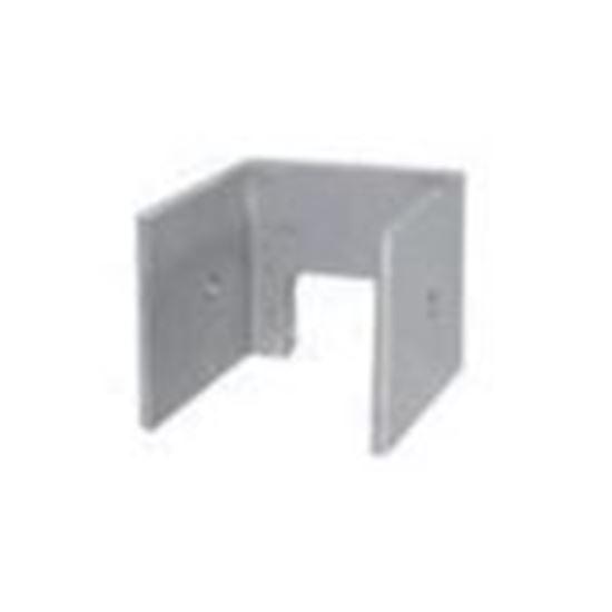 "Picture of ProSolar AEZECAP1 Support Rail End Cap for 1.5"", Clear Aluminum"