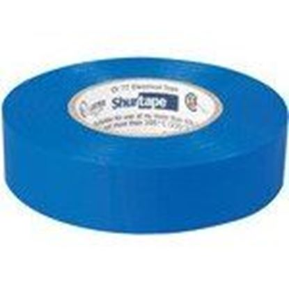 """Picture of Shurtape 104842 Color Coding Electrical Tape, Vinyl, Blue, 3/4"""" x 66'"""