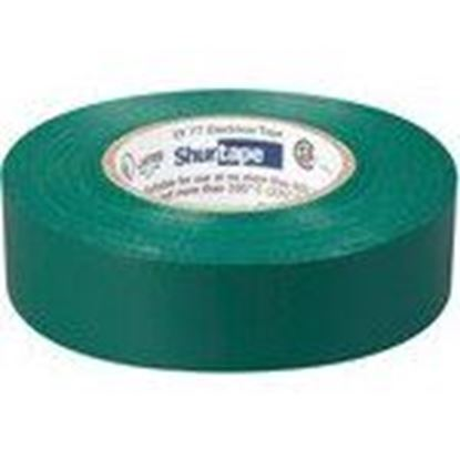 """Picture of Shurtape 104843 Color Coding Electrical Tape, Vinyl, Green, 3/4"""" x 66'"""