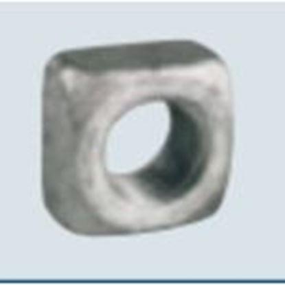 """Picture of PPC Insulators 1082 Square Nut, Galvanized, 5/8"""""""