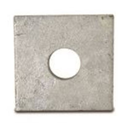 "Picture of Powerline Hardware P1073 2""x2"" Square Flat Washer, 1/2"" Bolt Diameter"