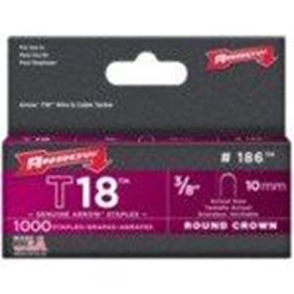 Picture of Arrow 186 T18 Round Crown Staple