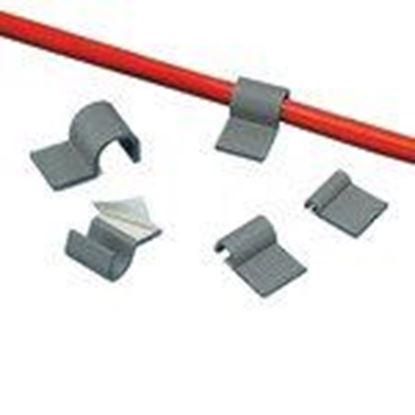 "Picture of Panduit A1C12-A-C8 Cord Clip, Adh., .12""(3.2mm) Bundle, GRY"