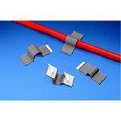 "Picture of Panduit A2C12-A-C8 Cord Clip, Adh., .12""(3.2mm) Bundle, GRY"